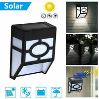 Solar Powered Wall Mount LED Lamp Outdoor Garden Path Landscape Fence Yard Light