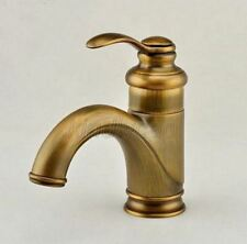 Antique Brass Bathroom Basin Faucet Single Hole Sink Mixer Tap Knf008
