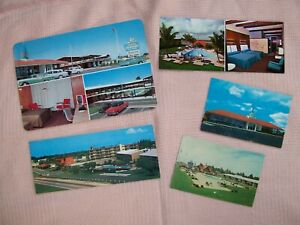 HOWARD JOHNSON'S VINTAGE LOT OF FIVE (5) POST CARDS HOST OF THE HIGHWAYS-3 SIZES