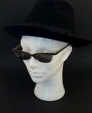 Original 70er Jahre Deko Frau Kopf Weiß Kopfhörer Hut Brille Kunststoff Glaskopf