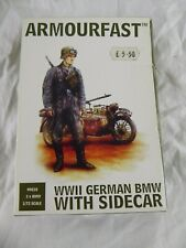 HAT 99010 WWII ARMOURFAST GERMAN BMW WITH SIDECAR  23 X 1:72 SCALE (2004) - NEW