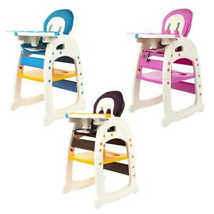Baby High Chair 3 in 1  Highchair Table Set Portable Infant Toddler Feeding Seat