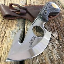 BLACK Wood Hunting Survival Skinning Fixed Blade Knife Army Gut Hook 5637 -F