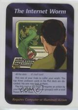 1996 Illuminati: New World Order Unlimited NoN The Internet Worm Gaming Card 0a2