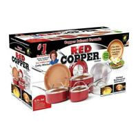 Red Copper 6488803 As Seen On TV Ceramic Copper Cookware Set Red