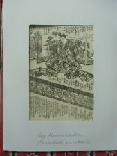 "Utagawa Kunisada original Japan Holzschnitt ""By Kunisada printed in 1860's"""