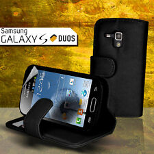 Black Wallet Flip Leather Case for Samsung Galaxy Trends Plus 7580 S Duos S7562