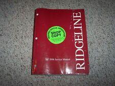 2006 Honda Ridgeline RT RTS RTL Service Shop Repair Manual