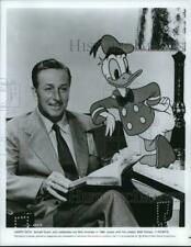 1984 Press Photo Donald Duck with Creator Walt Disney - hcq14525