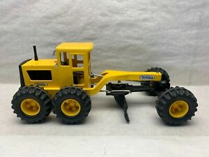 """17"""" Vintage Tonka Pressed Steel Road Grader Yellow Construction Toy Truck #16180"""