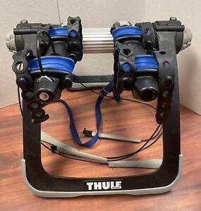 Thule Raceway Pro 9001 Bike Rack Rear Trunk Mount W/O Keys - Holds 2 Bicycle