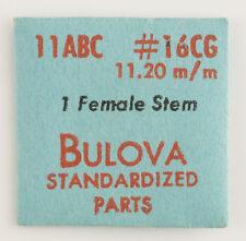 1 Nos Unused Bulova Female Stem 11.20Mm #16Cg 11Abc For A Watch