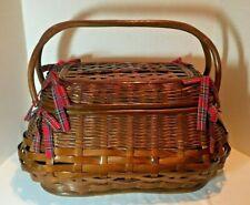 Large Picnic Time Highlander Wicker Picnic Basket