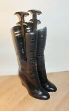 NEW Clarks womens LORENZO BLOOM black leather snake effect boots size 8