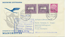 """2415 1956 First Flight Dt Lufthansa Superconstellation """"DÜSSELDORF-MANCHESTER"""""""
