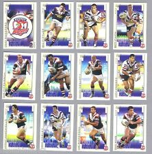 10  SETS OF 2003   SYDNEY ROOSTERS  RUGBY LEAGUE CARDS