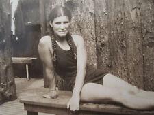 ANTIQUE 30s AMERICAN BEAUTY LIFEGUARD TEEN GIRL LIFE SAVING TEST LOCKER PHOTOS