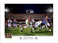TRENT RICHARDSON ALABAMA CRIMSON TIDE FOOTBALL VS. FLORIDA S/N PRINT