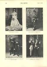 1896 el prisionero de Zenda St James's Theatre fundido y fotografías