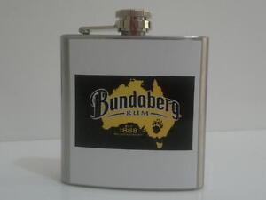 Bundaberg Rum Hip Flask 6oz Bundy Barware
