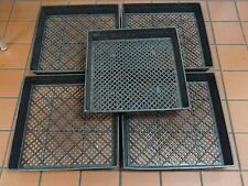 """5 Pack of Large 17"""" x 17"""" Planting Tray w/ Drainage Holes for Wheatgrass Sprouts"""