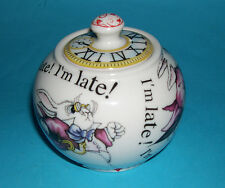 "Paul Cardew Classic Ceramics - ""Alice In Wonderland"" Porcelain/ China Sugar Bowl"