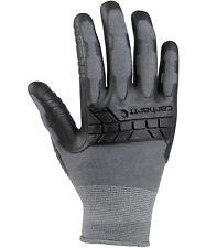 CARHARTT Mens C Grip A612 Medium Gray Black Coated Work Gloves Seamless Rubber