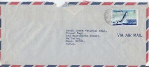 Bermuda -1972 Fish, 15c Wahoo Commercial Air Mail Cover - Paget Cancel