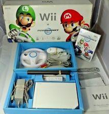 Nintendo Wii Console Mario Kart Edition W/ Original Box, Sealed Game, Wheel