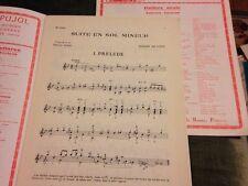 Robert De Visée Suite En Sol Mineur Score Partition Guitare Émilio Pujol Eschig