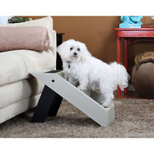 Plastic Folding Pet Steps - Gray - Collapsible Portable Light Weight