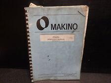 Makino Operation Manual_Fx650_Mofx6509203