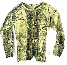 Rocky Outdoor Base Layer Shirt Camouflage Long Sleeve Hunting Hiking Youth XL