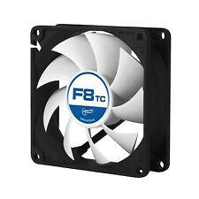 Ventola Arctic Cooling F8 TC 80 x 80 x 25 mm 3 Pin 31 CFM 8x8 80MM CASE CPU