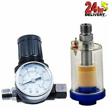 Spray Gun Air Regulator Gauge & In-line Water Trap Filter