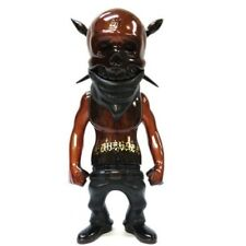 "Secret Base x Usugrow Rebel Ink Golden Week Chocolate Brown Gold 7"" Vinyl Sofubi"