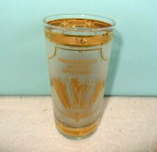 VINTAGE Indianapolis 500 Motor Speedway 10 oz Gold Rim Drinking Glass NEW