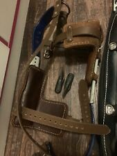 Electrical Linemen Climbing Belt & Climbers (2 Different Spikes) Never Used