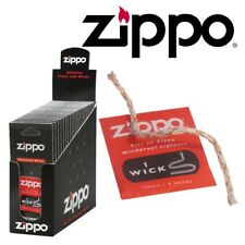 2 X Zippo Genuine Lighter Wick Wicks for Windproof Lighters Original UK