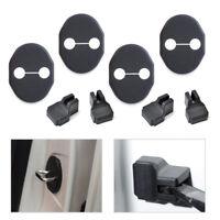 Car Door Striker Lock Protector+Check Arm Cover For Mazda 2 3 CX-5