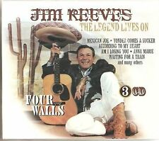 JIM REEVES - FOUR WALLS - THE LEGEND LIVES ON  - 3 CD SET -  FREE POST IN UK