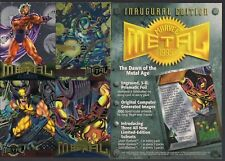 "MARVEL METAL FLEER 1995 LG 5 x 7"" METAL FOIL PROMO CARD WOLVERINE IRON MAN VENOM"