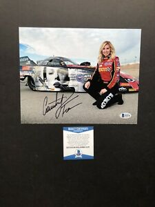 Courtney Force autographed signed 8x10 photo Beckett BAS COA NHRA Sexy Hot Rare