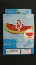 "BRAND NEW Sun & Sky Inflatable Mat Watermelon Slice Mat 70"" x 35"""