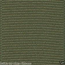 "5 YDS GREEN 3/8"" 5/8"" 7/8"" 1.5"" SOLID OFFRAY GROSGRAIN RIBBON U PICK COLOR/SZ"