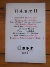 CHANGE.violence. revue. Black Panthers, Leroi Jones, Commune de Paris, A.Hoffman