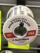 Radioshack 6040 Rosin Core Solder 062 Diameter 1 Lb 6400008 Usa Fresh