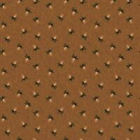 FLANNEL: PINE CONE BROWN Cotton Flannel Print by RILEY BLAKE BTY