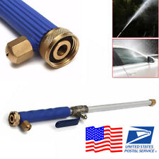 Blue High Pressure Hose Nozzle Water Gun Car Washing Cleaning US Free Shipping