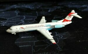 AUSTRIAN AIRLINES Fokker 100 OE-LVE Aircraft Model 1:400 Scale Gemini Jets READ